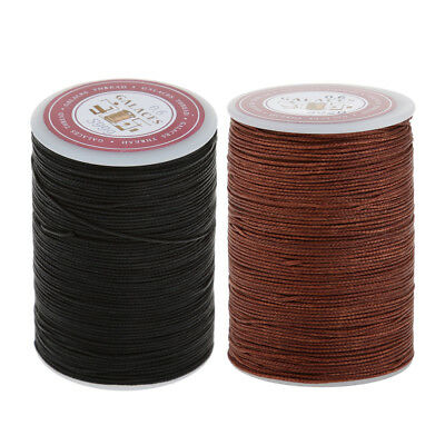 2 Rolls Round Waxed Cotton Cord String Jewellery Bracelet Necklace DIY 0.6mm