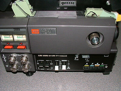 Elmo GS-1200 Super 8mm Stereo Sound Movie Projector with f/1.1 lens