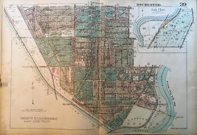 1926 Genesee Valley Park Rochester Ny Mt Hope Cemetery School #37 Atlas Map