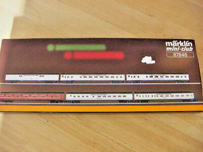 Marklin Z Gauge Pennsylvania 6 Coach Set 87846 Atlantic Coast Boxed Usa Vgc Xmas