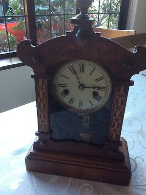 Antique Chiming Clock With Key. Parts Only