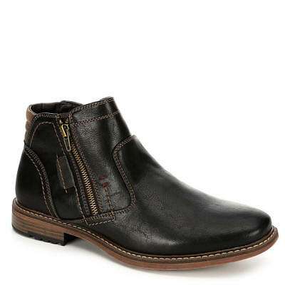 Day Five Mens Dual Side Zip Up Ankle Boot Shoes