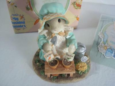 1996~Enesco~My Blushing Bunnies~Love Grows Whenever You Are Near~#204714