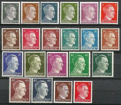 Germany Third Reich 1941/1944 MNH Hitler Definitives Complete set 21 values
