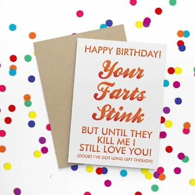BIRTHDAY CARD Funny Rude Husband Mum Dad Wife Brother Sister