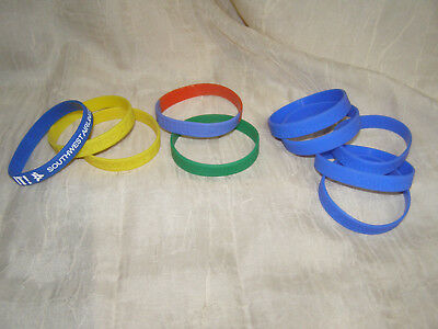 Southwest Airlines Assorted 10 Rubber Bracelets