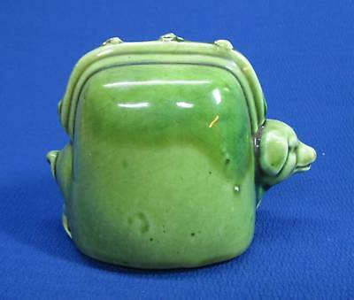 Vintage Toy Pottery Bank - Pig In A Purse