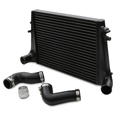 Direnza Black Front Mount Intercooler Fmic Kit For Vw Golf Mk5 Mk6 Gti R Ed30
