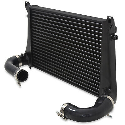 Direnza Black Front Mount Intercooler Fmic Kit For Vw Golf Mk7 Tsi Gti R 2.0 11+