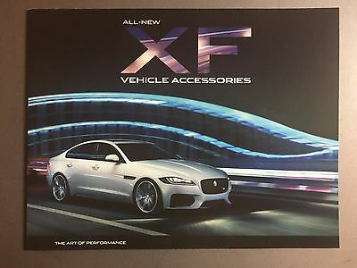 2016 Jaguar XF Accessories Showroom Advertising Sales Brochure RARE!! Awesome