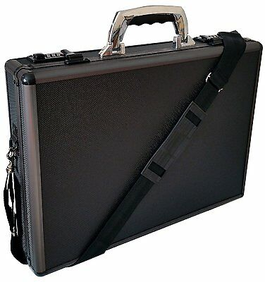 Hard Aluminium Handle Executive Briefcase Laptop Travel Flight Pilot Carry Case