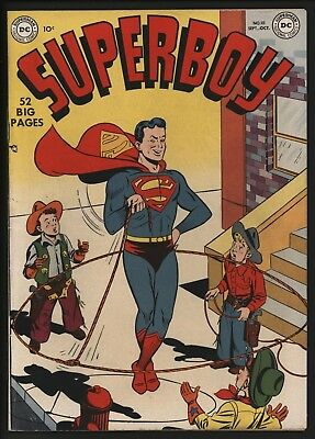 SUPERBOY #10 1st APPEARANCE OF LANA LANG SEP 1950. VERY SCARCE COMIC!