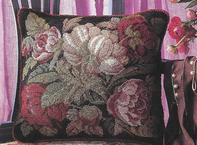 Blooming Roses David Merry Ehrman Tapestry Needlepoint Chart Floral Design
