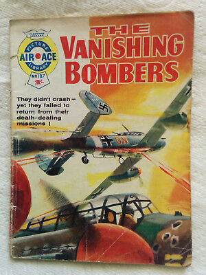 """Air Ace Picture Library #187 """"The Vanishing Bombers""""  dated 1964"""