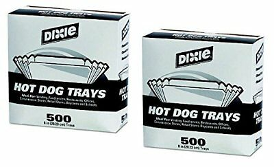 2 X Dixie Hot Dog Trays 8 in./500 ct.