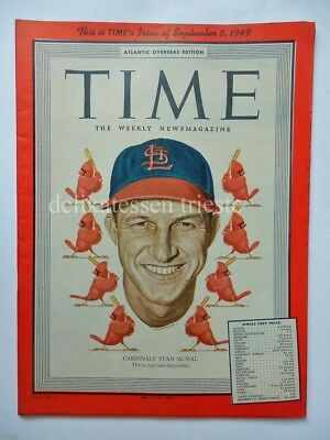 TIME september 5 1949 issue CARDINALS' STAN MUSIAL baseball