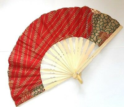 Traditional Batik Print Bamboo Hand Folding Hand Fan Small Malaysi Va139S-1