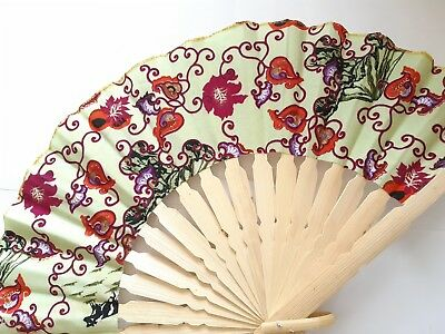 Traditional Batik Print Bamboo Hand Folding Hand Fan Small Malaysia Va139S-10