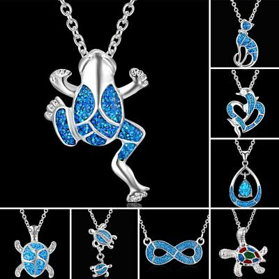 Fashion Silver Animals Frog Tortoise infinite Pendant Necklace Chain Jewelry Hot