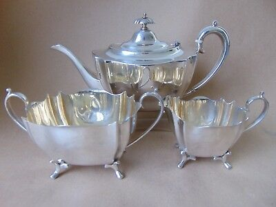 Very good large silver plated teaset