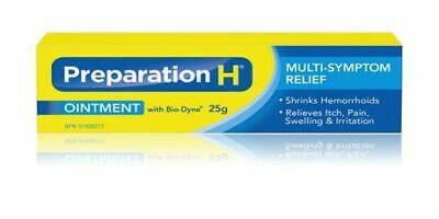 Preparation H Pain Relief Ointment with Bio-Dyne 25g, {Imported from Canada}