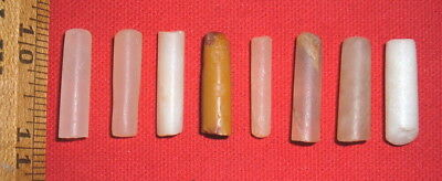 (8) Nice Sahara Neolithic Plugs / Labrets, Prehistoric African Artifacts