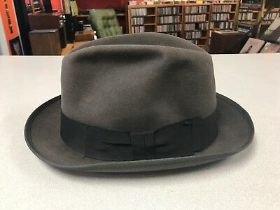 Champ Kasmir 7 1/4 long oval vintage hat Joe Vaughan mens 1930s 1940s fedora