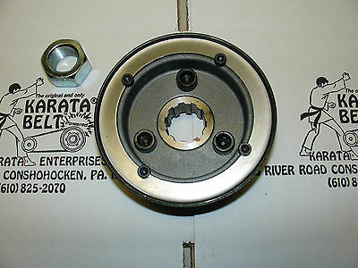 """""""lot"""" """"new"""" Genuine Karata Sturgis Enclosed Primary 3 Front Pulley's & 3 Nut's"""