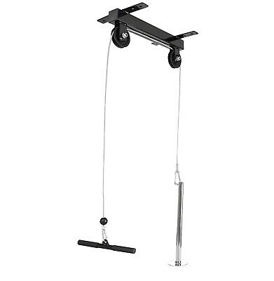 CEILING MOUNTED LAT PULL DOWN CABLE PULLEY Machine HOME MULTI Gym Workstation