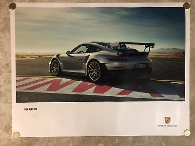 2017 Porsche 911 GT2 RS Coupe Showroom Advertising Sales Poster RARE!! Awesome