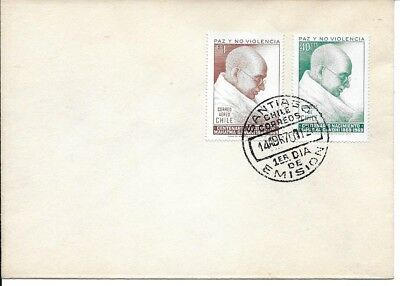 India Indien Gandhi 1970 Chile FDC