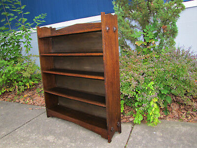 Antique Arts & Crafts Wide Open Front Bookcase w5383 (Stickely Era)