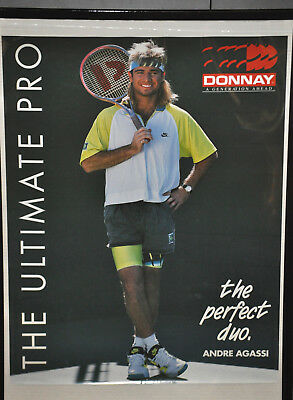 "ANDRE AGASSI ""The Perfect Duo"" Donnay Tennis Poster Vintage (71)"