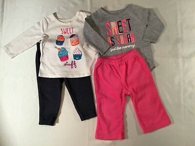 89559adfdc70 Carter's And Okie Dokie Infant Girl's Clothing 4 Piece Lot Size ...