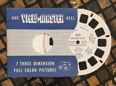 Mohawk Trail Massachusetts 1950 Sawyer's ViewMaster Single Reel 275 Made USA