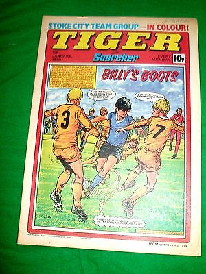 Tiger Comic 1980  Great Stoke City Team Centre Poster & John Lowe Darts Poster