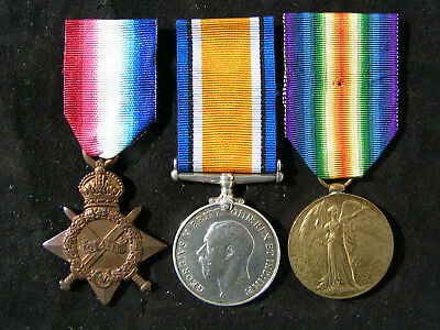Ww1 1914-15 Star Medal Trio Casualty Wellington Mounted Rifles New Zealand Nzef