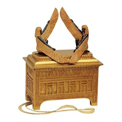 """Egyptian Sculpture Replica Art of the Covenant Large 12""""H Trinket Box"""