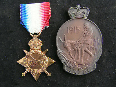 Ww1 1914-15 Star Medal & Anzac Commemoration Medal Australia Casualty 6/a.i.f.