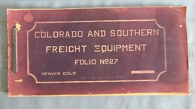 1911 Colorado & Southern Railway Freight Equipment Folio No. 27-Narrow Gauge