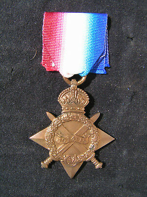 Ww1 1914-15 Star Medal Hitchman Norfolk Regiment Casualty K.i.a. Battle Shaiba