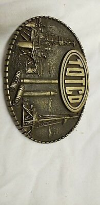 """1981 Solid Brass Belt Buckle  """"TOTCO"""" OILFIELD Limited Edition ADM"""