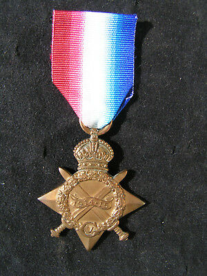Ww1 1914-15 Star Medal Trooper Scanlon Casualty 1St Canadian Divisional Cavalry