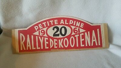 Rallyed De Kootenai 1961 Race Vehicle SIGN French / Car Racing