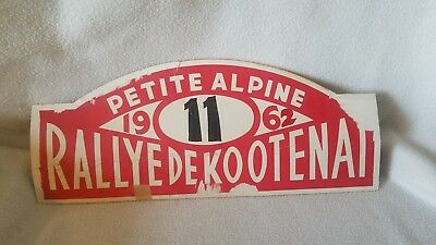 Rallyed De Kootenai 1962 Race Vehicle SIGN French / Car Racing
