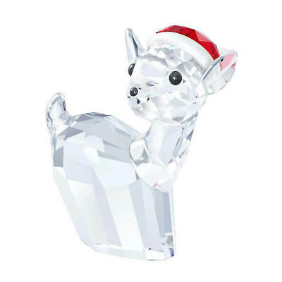 Swarovski 5135853 Doe with Santa's Hat Figurine