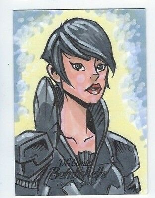Cryptozoic DC Bombshells II sketch Phil Juliano