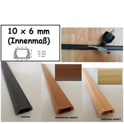 1m Cable Channel Wall Mounting Various Sizes and Colors