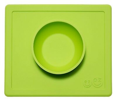 EZPZ Happy Bowl, One-Piece Silicone Suction Placemat + Bowl in One - Lime