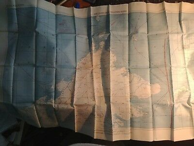 Ww2 Army Air Corps Silk Escape Map Of Borneo And Mindanao  Minty Condition